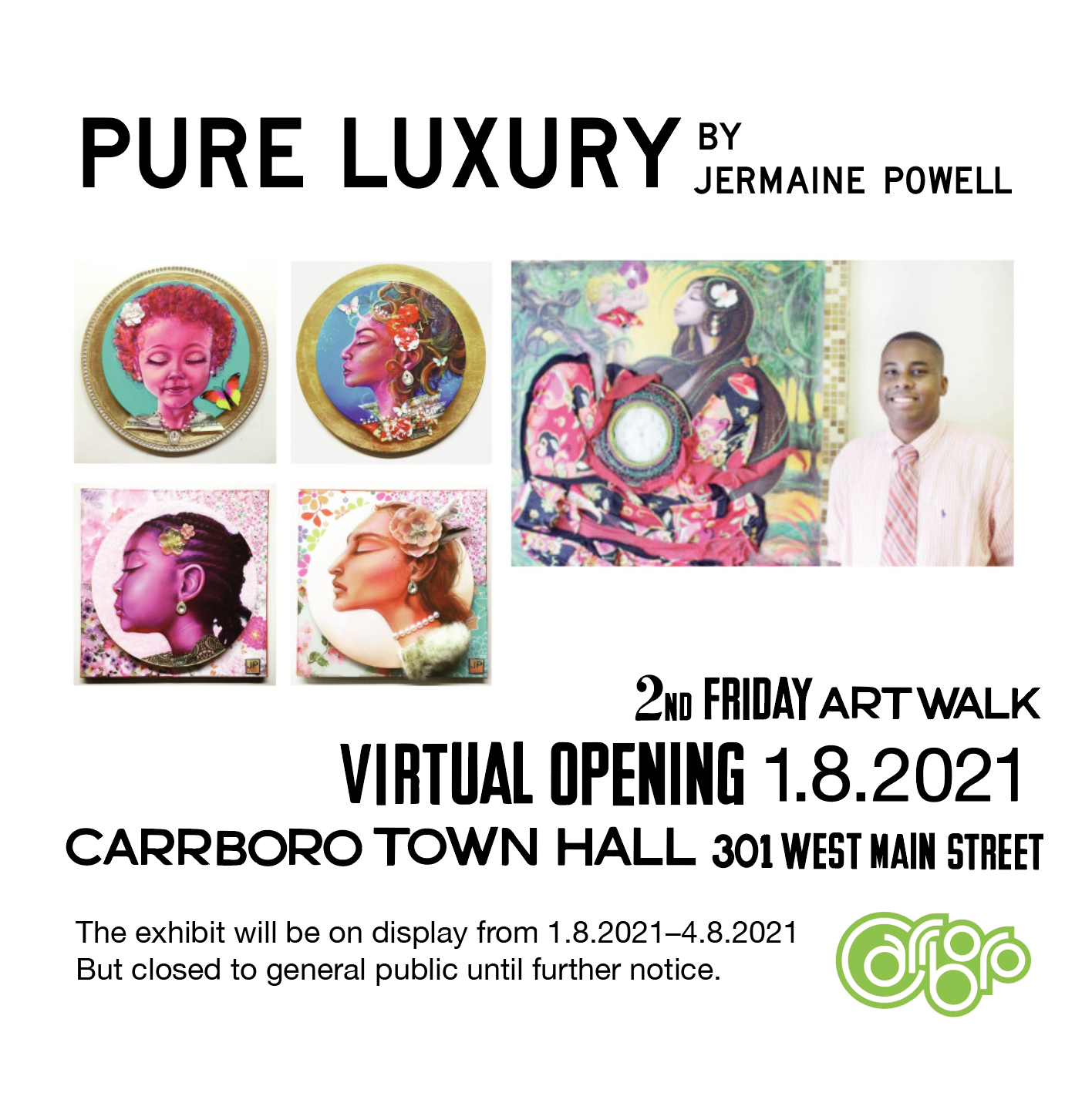 Jermaine Powell Art Exhibition Introduction Image